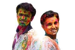 Amis de Holi Photos libres de droits