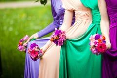 Amis de la jeune mariée Photographie stock