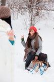 Amis de neige Photos stock