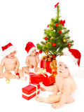 Amis de Noël Image stock