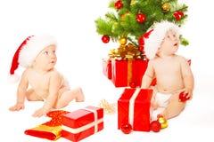 Amis de Noël Photos libres de droits