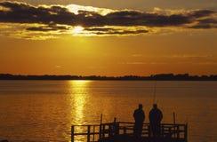 Amis de pêche Photographie stock libre de droits
