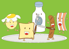 Amis de petit déjeuner Photographie stock