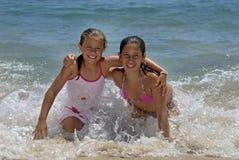 amis de plage Photo stock