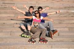 Amis de rouleau Photos libres de droits