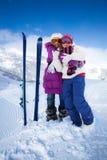 Amis de ski Photographie stock