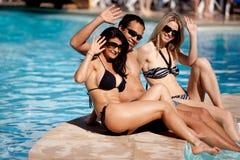 Amis de vacances Images stock