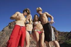 Amis des vacances d'été Images libres de droits