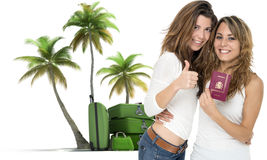Amis des vacances tropicales Photo stock