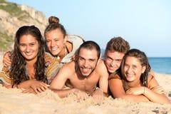 Amis en été Photos libres de droits