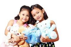 Amis et jouets Images stock