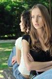 Amis fâchés (adolescentes) Images libres de droits