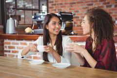 Amis féminins ayant le café Photo libre de droits