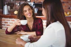 Amis féminins ayant le café Image libre de droits