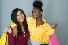 Amis féminins d'Afro-américain Photo stock