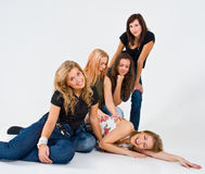 Amis féminins ensemble Photos libres de droits
