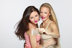 Amis faisant le selfie Photographie stock libre de droits