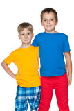 Amis gais de mode petits Photo stock