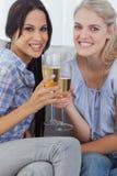 Amis grillant avec le champagne Photographie stock