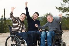 Amis handicapés Photographie stock
