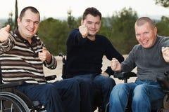 Amis handicapés Images libres de droits