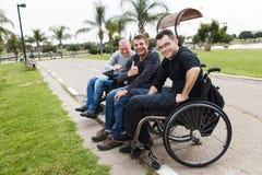 Amis handicapés Image libre de droits