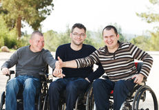Amis handicapés Images stock
