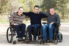 Amis handicapés Photos libres de droits