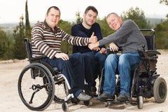 Amis handicapés Photographie stock libre de droits