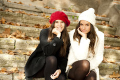 Amis heureux Images stock