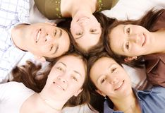 Amis heureux Image libre de droits