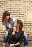 amis heureux Photo stock