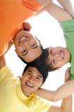Amis heureux Images libres de droits
