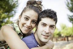 Amis heureux de couples Images stock