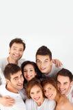 Amis heureux de sourire Image libre de droits