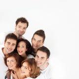 Amis heureux de sourire Photographie stock libre de droits
