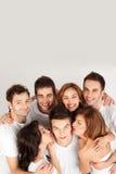 Amis heureux de sourire Photo stock