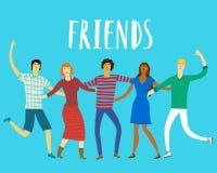 Amis heureux ensemble Photo libre de droits