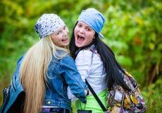 Amis pendant des vacances en parc Photographie stock libre de droits