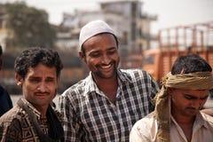 Amis indiens heureux Images libres de droits