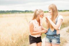 Amis mignons et heureux Image stock