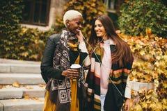 Amis multiraciaux dehors Photo stock