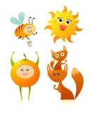 Amis oranges Images libres de droits