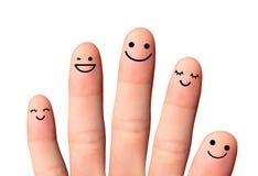 Amis ou famille heureux, d'isolement avec des chemins de coupure sur b blanc Image stock
