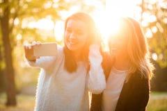 Amis prenant le selfie Photo libre de droits