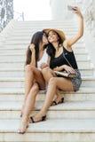 Amis prenant le selfie de lui-même Image libre de droits