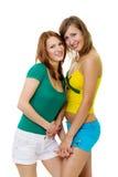 amis restant ensemble le femme deux Images stock