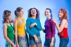 Amis riants Photos libres de droits