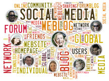 Amis sociaux de media Photos libres de droits