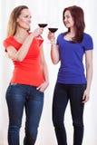 Amis soulevant leurs verres Image stock